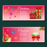 五颜六色的圣诞节垂直的横幅 皇族释放例证