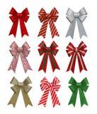 五颜六色的圣诞节弓 图库摄影