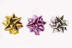 五颜六色的圣诞节弓 库存图片