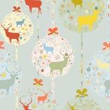 五颜六色的圣诞节无缝的样式。EPS 8 免版税库存图片