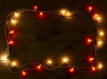 五颜六色的圣诞节框架 库存图片