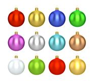 五颜六色的圣诞节球 向量例证