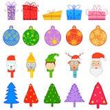 五颜六色的圣诞节的标志 免版税库存图片