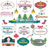 五颜六色的圣诞节的标志 免版税库存照片