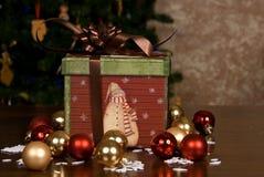 五颜六色的圣诞节礼物盒 库存照片