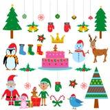 五颜六色的圣诞节节日的标志 免版税图库摄影