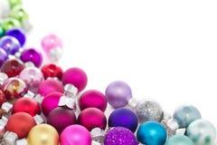 五颜六色的圣诞节装饰 库存图片