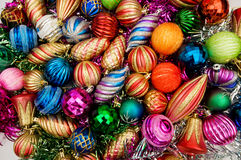 五颜六色的圣诞节装饰 免版税图库摄影