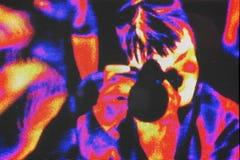 五颜六色的在下人员红色 库存照片