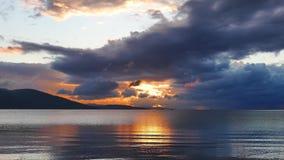 五颜六色的地中海日落在秋天31 股票录像