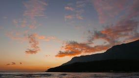 五颜六色的地中海日落在秋天 股票录像