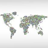五颜六色的地图由几何形状做成 库存照片