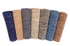 五颜六色的地毯卷 库存照片