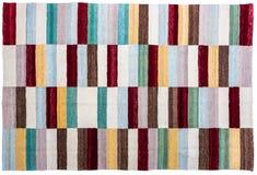 五颜六色的地毯表面关闭 图库摄影