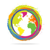五颜六色的地球 免版税库存图片