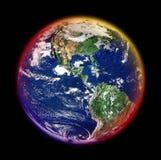 五颜六色的地球 库存照片