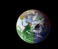五颜六色的地球 免版税库存照片