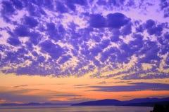 五颜六色的场面天空 免版税库存照片
