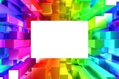五颜六色的块彩虹  免版税库存照片