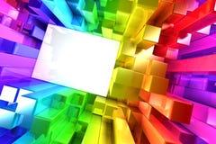 五颜六色的块彩虹  免版税库存图片