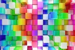 五颜六色的块抽象背景 免版税库存图片