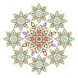 五颜六色的坛场传染媒介例证 库存图片
