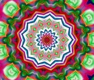 五颜六色的坛场形式,抽象背景 免版税库存图片