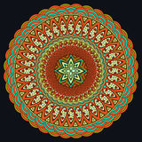 五颜六色的坛场 Boho样式,嬉皮jewelery 圆的装饰品样式 装饰要素葡萄酒 东方样式,阿拉伯 库存例证