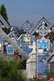 五颜六色的坟园 库存图片