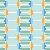五颜六色的垂直的菱形瓦片导航无缝的样式 异想天开的夏天水池马赛克 抽象中世纪背景 皇族释放例证