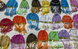 五颜六色的埃及headwear 免版税库存图片