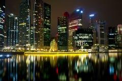 五颜六色的城市晚上光 库存图片