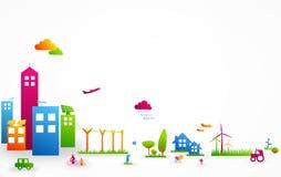 五颜六色的城市生活 免版税库存图片