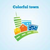 五颜六色的城镇 免版税库存图片