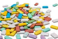 五颜六色的堆口香糖 免版税库存图片