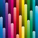 五颜六色的堆立方体背景 免版税库存照片
