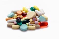 五颜六色的堆药片 免版税库存图片