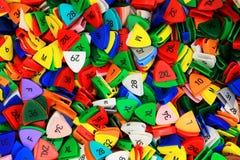 五颜六色的塑料大小制造商 免版税图库摄影