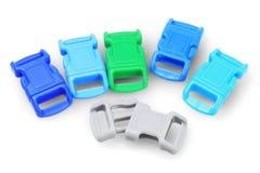 五颜六色的塑料扣 免版税库存图片