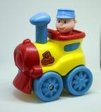 五颜六色的塑料火车 免版税图库摄影