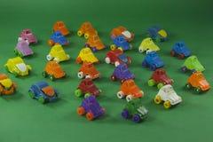 五颜六色的塑料玩具 免版税库存照片