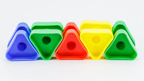 五颜六色的塑料玩具 免版税图库摄影