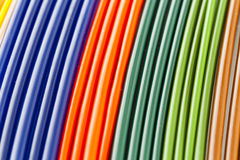五颜六色的塑料管 免版税图库摄影