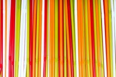 五颜六色的塑料管 免版税库存图片