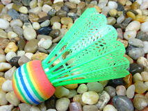 五颜六色的塑料shuttlecock 免版税库存照片