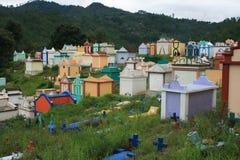 五颜六色的墓地在危地马拉 免版税库存图片