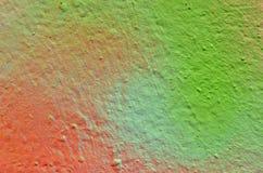 五颜六色的墙壁街道画油漆 库存图片