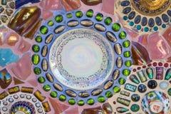五颜六色的墙壁陶瓷砖艺术 图库摄影