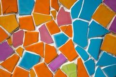 五颜六色的墙壁陶瓷砖艺术 库存照片