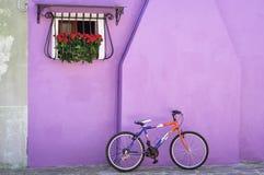 五颜六色的墙壁, Murano,意大利 图库摄影